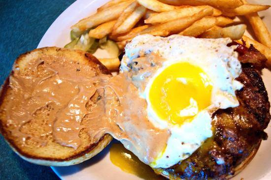 The Walk of Shame Burger at Bug Eyed Betty's in Eau Claire