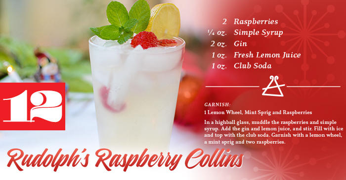 Rudolph's Raspberry Collins Recipe
