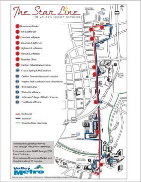 Star Line Trolley Map