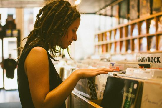 Shopping for Music at Revival Records in Eau Claire, Wisconsin