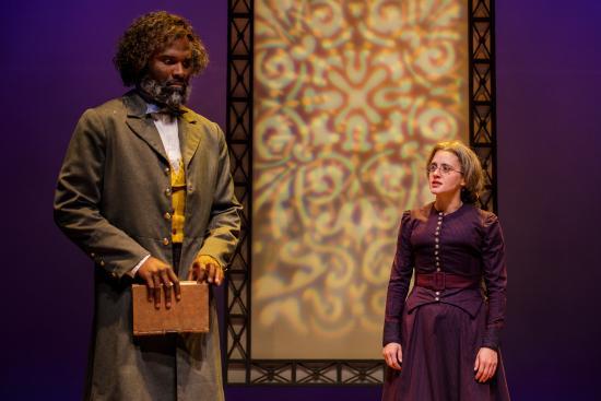 Madeleine Lambert and Cedric Mays in The Agitators.