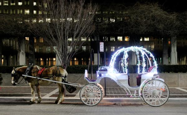 Elegant Carriages downtown Cincinnati