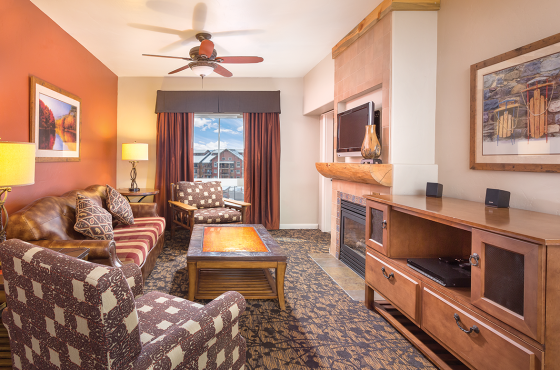 Wyndham Vacation Resorts Steamboat Springs, Three-Bedroom Living Area & Balcony