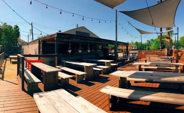 Ladybird's patio in Houston