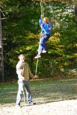 Climbing trees at the Fall Colors Festival at McCloud Nature Park