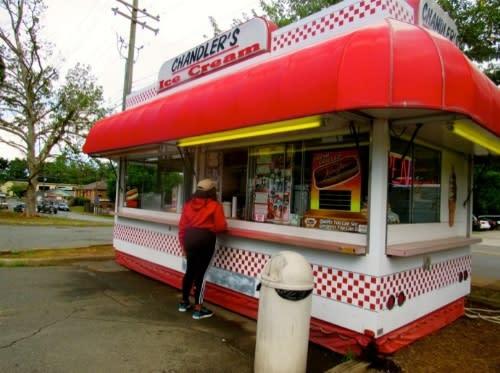 Chandler's ice cream stand