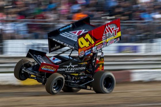Car On Three Wheels Rockford Speedway