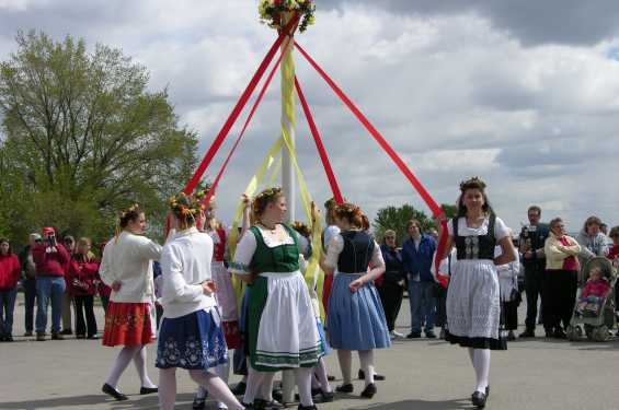 Maipole Dancers in the Amana Colonies