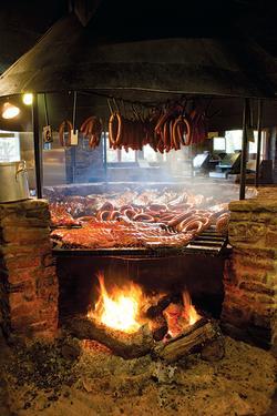 BBQ pit at The Salt Lick BBQ
