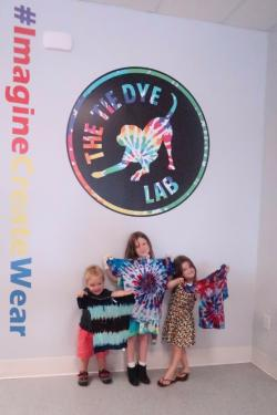 Tie Dye Lab Finished Product Social Media Wall