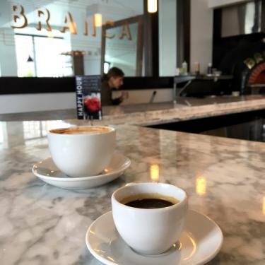 Coffee at Branca Restaurant in Rochester, NY