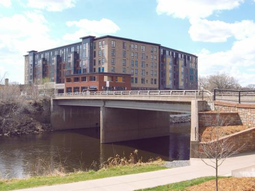 Barstow Street Bridge in Eau Claire, Wisconsin