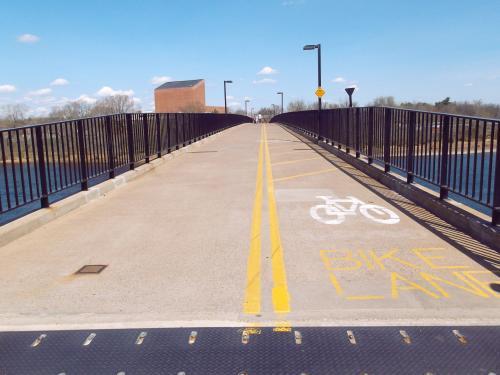 UWEC Walking Bridge in Eau Claire, Wisconsin