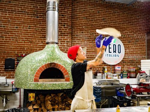 Pizza making at Denver's Vero