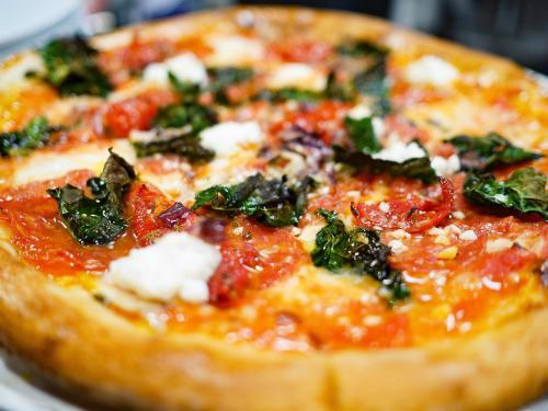 pizza at Vero's in Denver