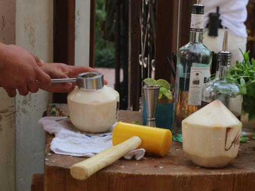 Habana Irvine Fresh Coconut Cocktail Preparation
