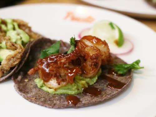 puesto shrimp taco