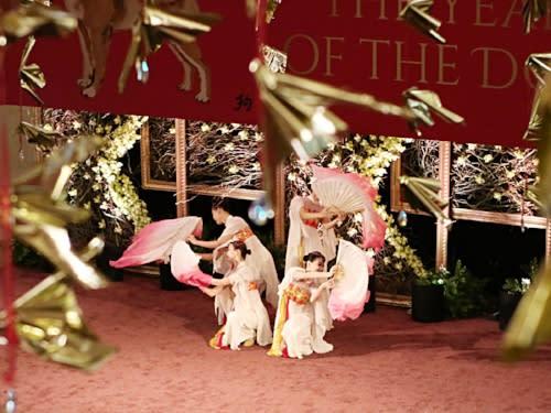 South Coast Plaza Lunar New Year Fan Dancers
