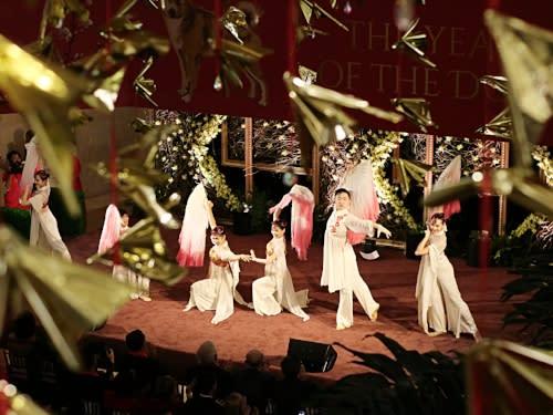 South Coast Plaza Lunar New Year Fan Dancers 2
