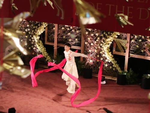 South Coast Plaza Lunar New Year Ribbon Dancer