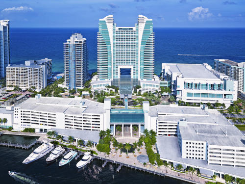 The Diplomat Beach Resort aerial view