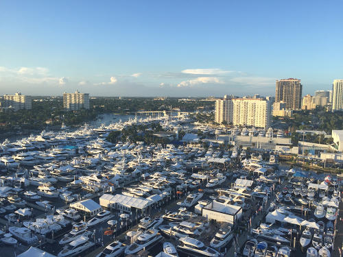 Fort Lauderdale International Boat Show View From Above
