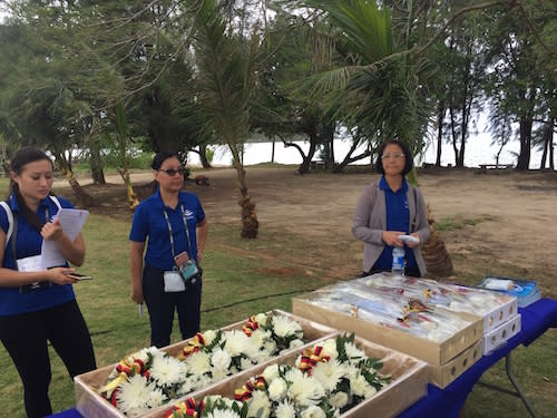 SMS Cormoran Event volunteers