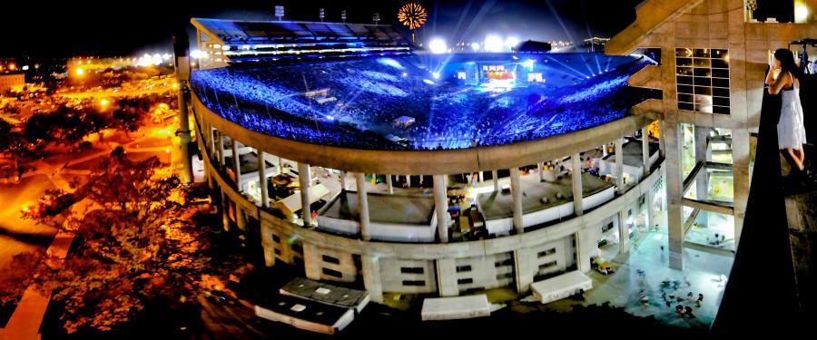 Bayou Country Superfest Outside Stadium Night