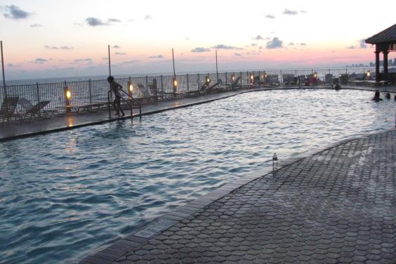 Treasure Island olympic size heated pool