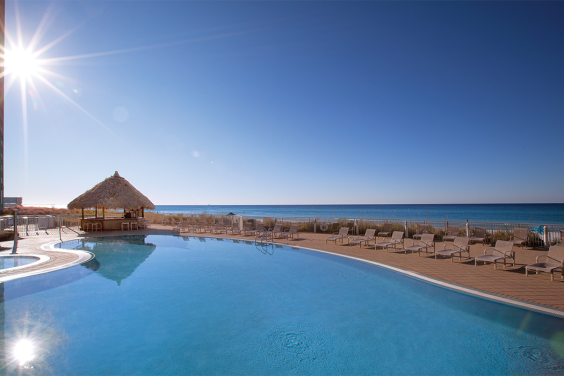 Panama City Beach, FL - Wyndham Vacation Resorts Panama City Beach, Outdoor Pool & Ocean