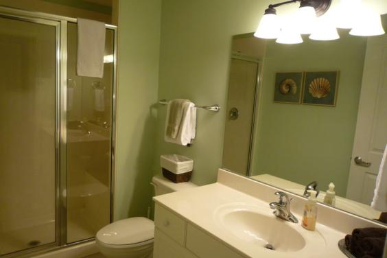 2nd Bath, Walk in Shower with a Bench
