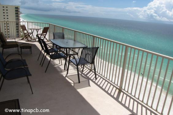 View From Our 719 sq ft wrap around balconcy of the beach and ocean