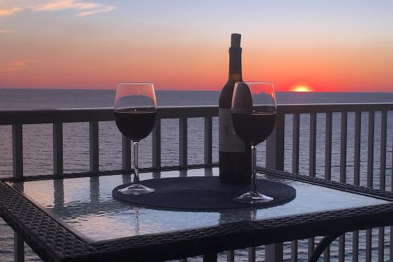 Enjoy cocktails and beautiful sunsets