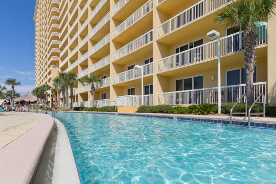 Two huge resort pools; one is heated.