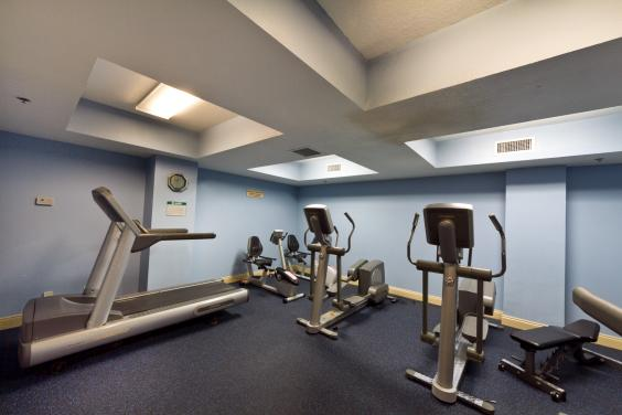 Stay in shape in our air conditioned workout room.