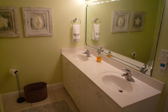 Master Bath has Twin Vanities and a Jetted Tub