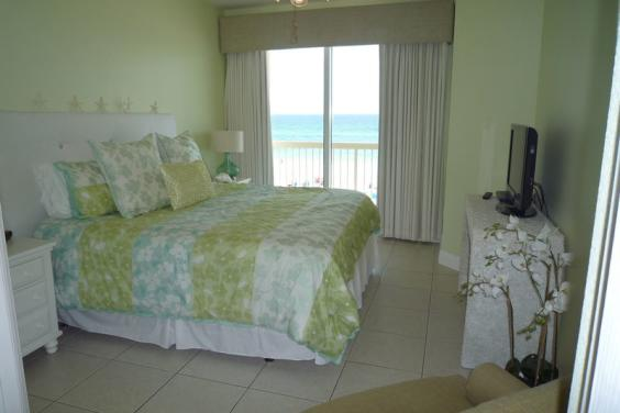 Master Bedroom - King Bed and Directly on the Gulf