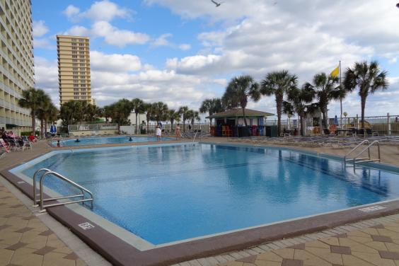 Two olympic size pools along the oceanfront and tiki bar.
