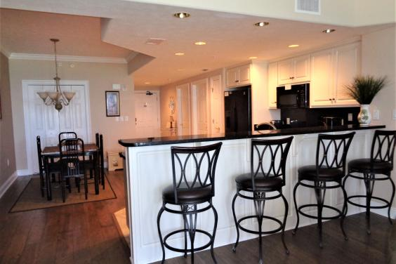 Bar area with all new wood flooring