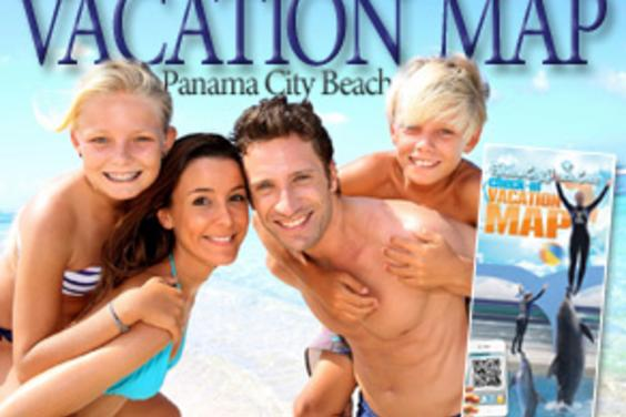 Map Of Panama City Beach Florida.Panama City Beach Visitor S Map Of The Emerald Coast Panama City