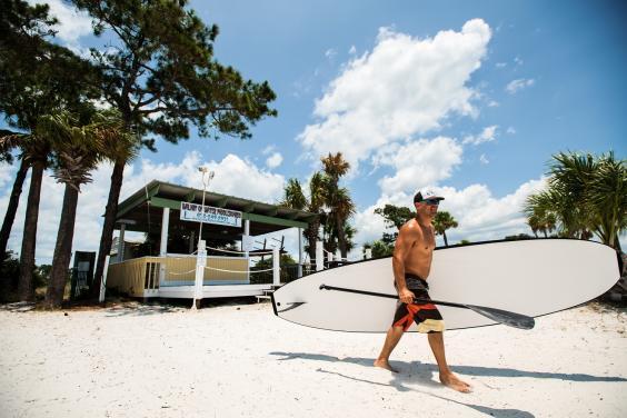 Bay Beach & Paddler