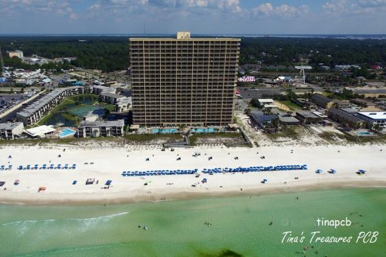 View of our building from the air over the Gulf of Mexico