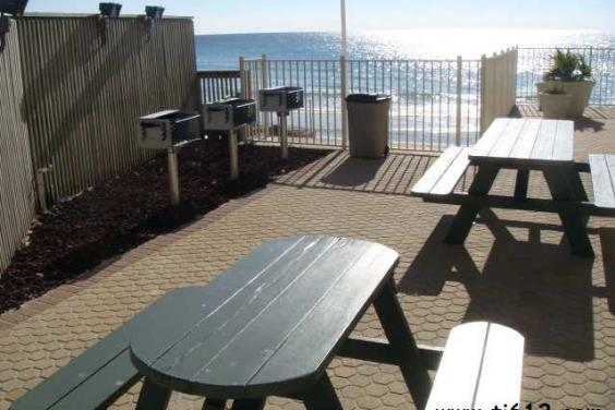 BBQ your favorite foods on pool deck overlooking Gulf & Beach