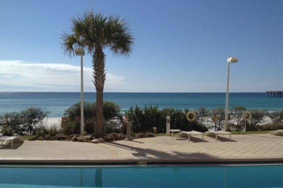 FIRST FLOOR FLIP FLOPS CALYPSO BALCONY VIEW!  WOW!!!