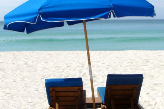 we provide free use of the beach service including two padded lounge chairs with umbrella on beach