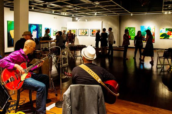 James Loser Painting Exhibit, singer songwriter Hal Shows