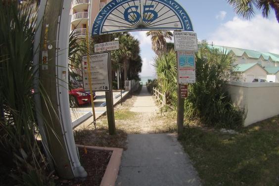 Easy beach access from Anchors Away Beach House.