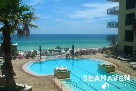 Origin Pool Deck at Seahaven Beach Resorts