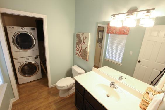 Half Bath and Laundry Area