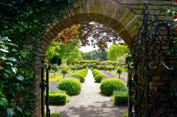 Filoli - looking at walkway from gate by Gretchine Nievarez